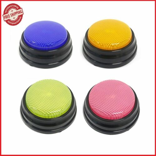 Recordable Talking Button with Led Function Learning Resources Answer Buzzers