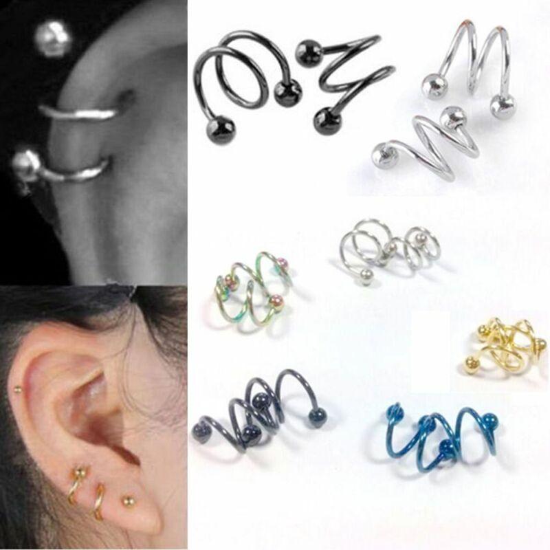 Argent Sterling 925 petit étoile Cercle Boucles D/'oreille Cartilage Helix post Boucles d/'oreille