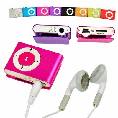 2018 Brand New Metal USB 2.0 Mini Clip On Portable MP3 Music player