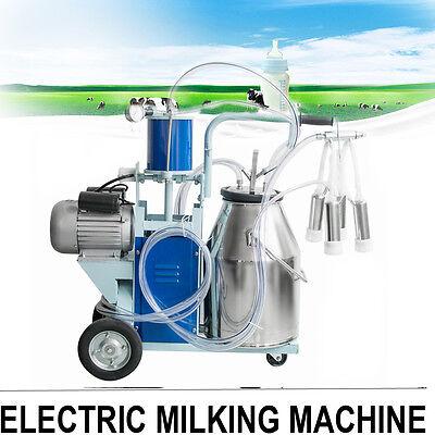 Electric Milking Machine 25l Bucket Milker For Dairy Farm Milk Cows Cattleusa