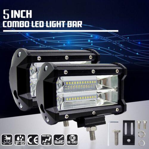 Car Parts - 2×Car Truck LED Work Spot Light Flood Driving Bright Bulb SUV 72W 12V 24V 5 in