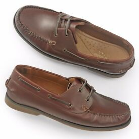 BARGAIN!!! Sexy LEATHER deck shoes for Men by Samuel Windsor -UK 7 RRP £115.00