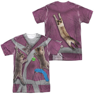 Crazy Cat Lady Halloween Costume T-shirt Front & Back (Cat Lady Halloween Costume)