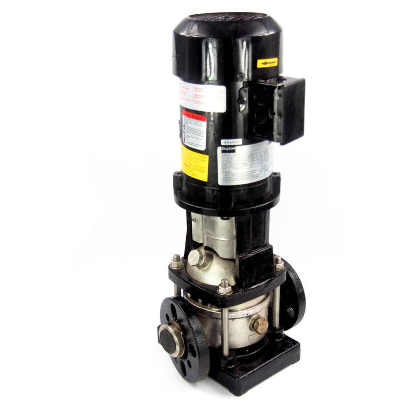 "Dayton 5UWK4 3/4 HP Multi-Stage Booster Pump 3-Ph 208-240/480VAC 1-1/4"" IN/OUT"