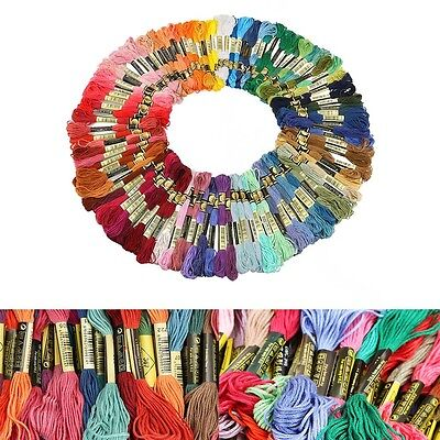 Lots 100 Colors Variegated Cross Stitch Cotton Embroidery Thread Floss