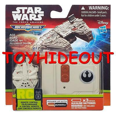 HASBRO STAR WARS THE FORCE AWAKENS MICRO MACHINES MILLENNIUM FALCON RC VEHICLE](Millennium Falcon Rc)