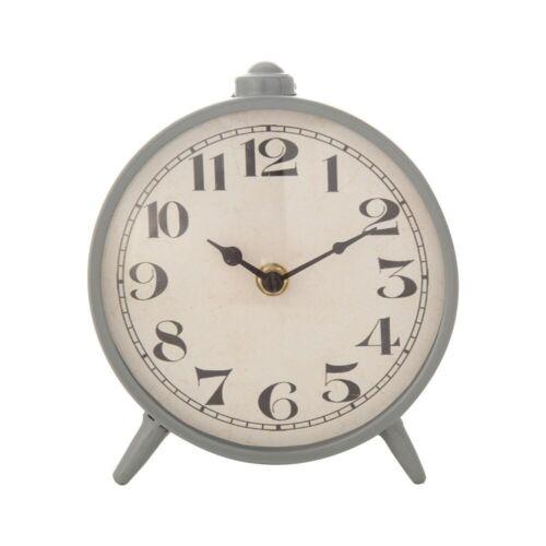 Grey Metal Mantel Clock!!! NEW!!!