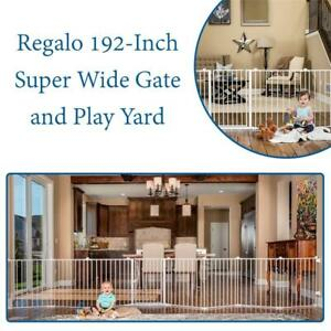 NEW Regalo 192-Inch Super Wide Gate and Play Yard, White Condtion: New