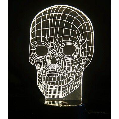 3D SKULL LAMP - 5570 LED OPTICAL ILLUSION BEDROOM ROOM LIGHT ART NIGHTLIGHT FUN - Halloween 2017 Kitchen