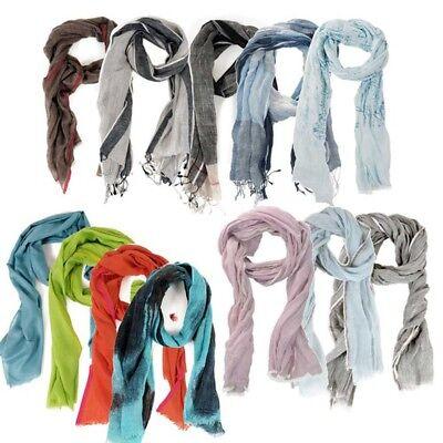 HINZE Designerschal aus Leinen, stilvoller Schals für Frauen und Männer, Unisex,