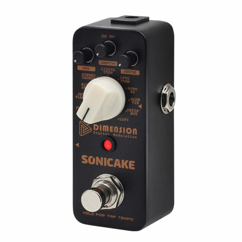SONICAKE 5th Dimension Digital Modulation Guitar Effects Pedal 11 Effects QSS-08