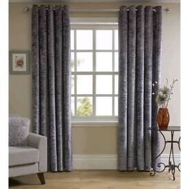 New curtains+ New curtain pole & hold backs.