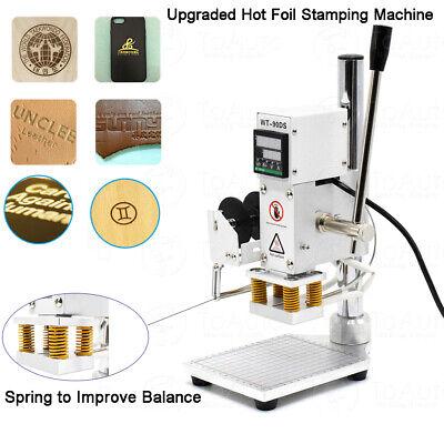 5x7cm Digital Hot Foil Stamping Machine Leather Pu Press Embossing Printing 110v