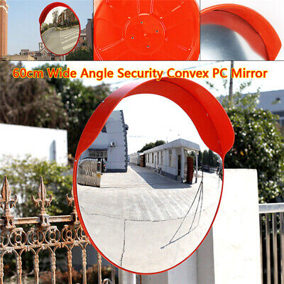 24 Inch Outdoor Wide Angle Security Convex Pc Mirror Road Traffic Driveway Safe