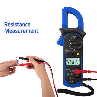 Digital Clamp Meter Tester Multimeter Amp Ac Dc Volt Auto Tester Ranging Probe