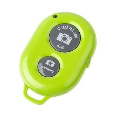 Remote Selfie Snap Camera Control for iPhone iPad Android + Stand Keyring Green