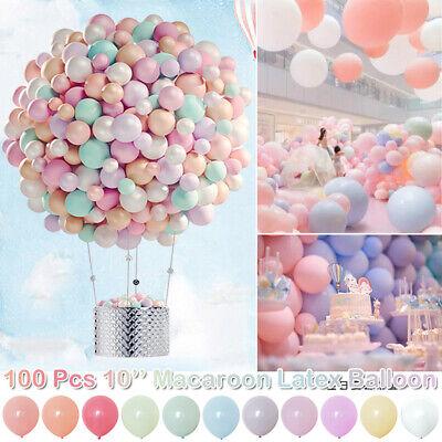 10inch Macaroon Latex Balloons Candy Rainbow Color 100-200PCS Party DIY Balloons](Rainbow Colored Balloons)