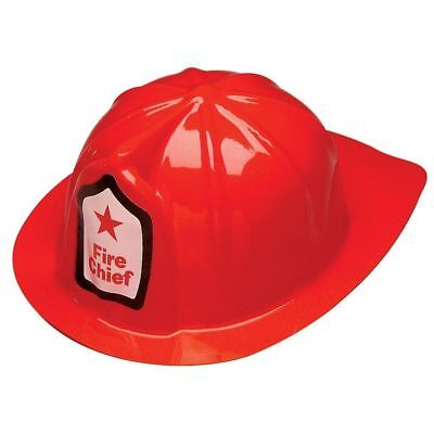 Plastic Fireman Firefight Fire Chief Helmet Hat Party Costume Accessory
