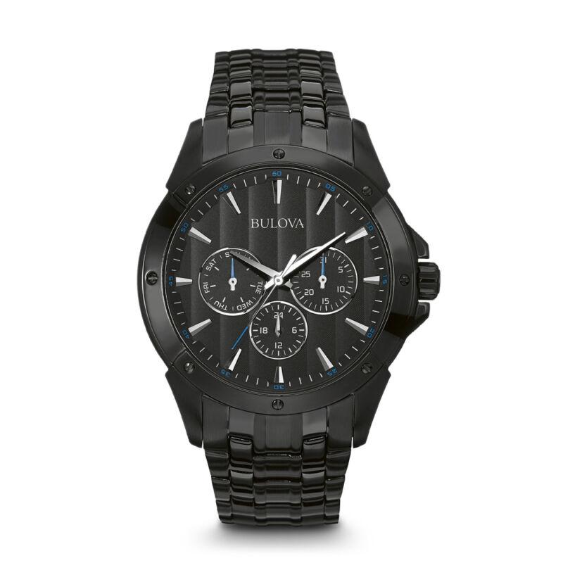 Bulova Men's Analog Watch Black 98C121