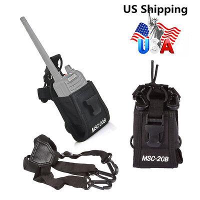 Msc 20B For Motorola Kenwood Walkie Black Holder Pouch Case Bag Two Way Radio