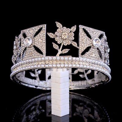 Tiara Cristal Corona Reina Concursos de Belleza Diadema Novia Boda Pelo Estrás