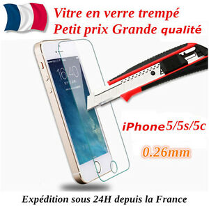 Iphone 5 5c 5s se vitre de protection en verre tremp for Film protecteur fenetre