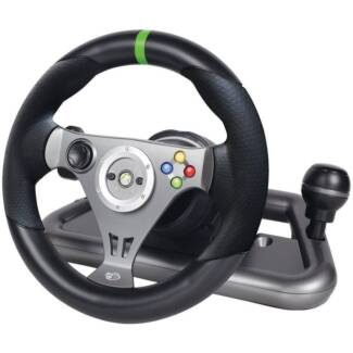 MadCatz Officially Licensed Wireless Wheel for Xbox 360 NEW