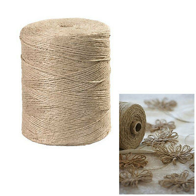 300' Feet Natural 2 Ply Twisted 100% Jute Twine Rope Bird Parrot Toy Craft Fiber