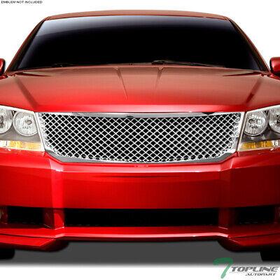 Topline For 2008-2010 Dodge Avenger Mesh Front Hood Bumper Grill Grille - Chrome