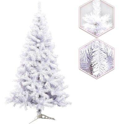 Albero di Natale Innevato Bianco 120 cm 200 Rami PVC Ecologico con Base Supporto