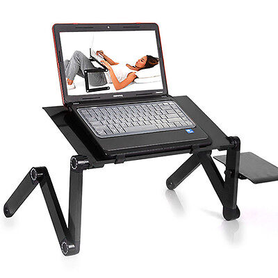 Durable Portable Foldable Notebook Laptop Desk Table Stand Bed Tray W/Cup Pad (Desk Bed Table)
