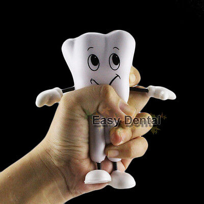 3pcs Hand Pinch Relieve Stress Tension Tooth Shape Vent Reduce Dental Ornamant
