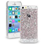 Scattered Glitter case zilver iPhone 5 / 5S / SE