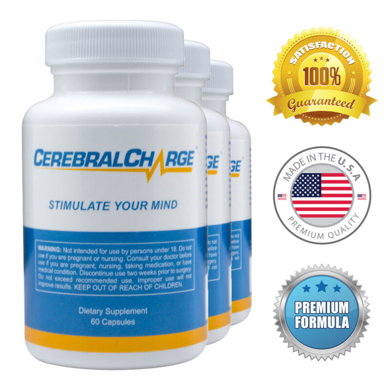 CerebralCharge  - Brain Pills - Enhance Memory, Sharpen Focus