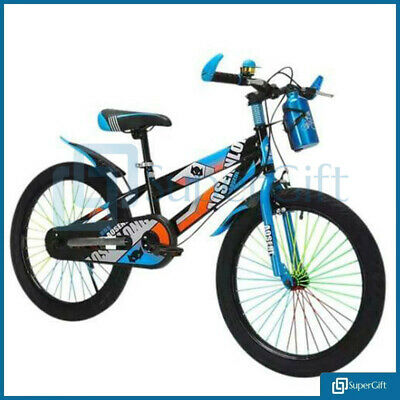 "Children Mountain Bike 20"" Wheel Frame Full Suspension Bicycle Blue Green Red UK"