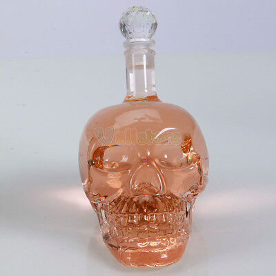 New Crystal Head Vodka Skull Face Bone Empty Good Hand-blown Glass Bottle 400ml on Rummage