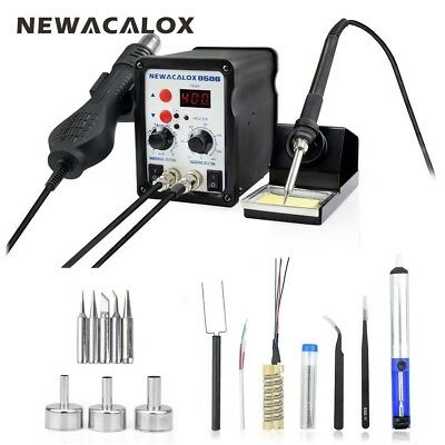 220v700w Digital Soldering Iron Station Desoldering Hot Air Gun Smd Rework