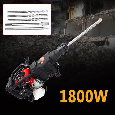 32.77cc Gas Motor Demolition Concrete Breaker Punch Drill Jack Hammer W Chisel