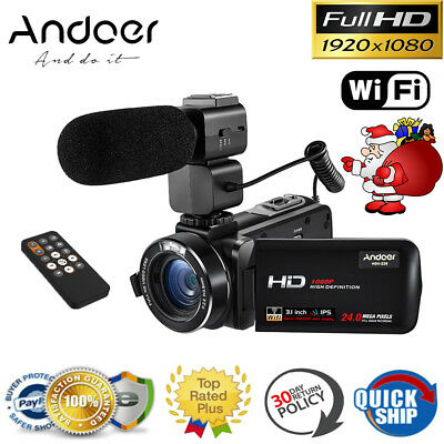 Andoer IPS HD WiFi 1080P 24MP Digital Video Camera DV Camcor