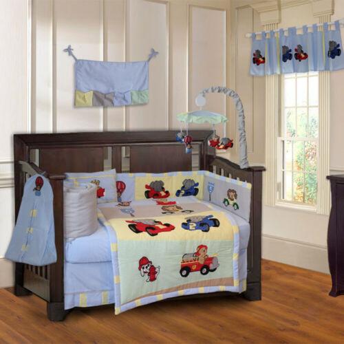 BabyFad 10 Piece Animal Zoom Baby Crib Bedding set