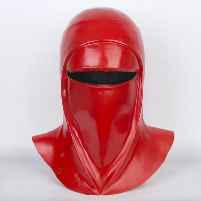US Star Wars Imperial Guard Helmet Royal Guard Cosplay Red Mask Latex Full Head (Imperial Guard Mask)