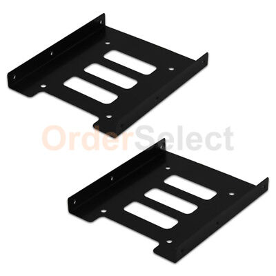 "2 2.5"" to 3.5"" Bay SSD Metal Hard Drive HDD Mounting Bracket Adapter Dock/Tray T"