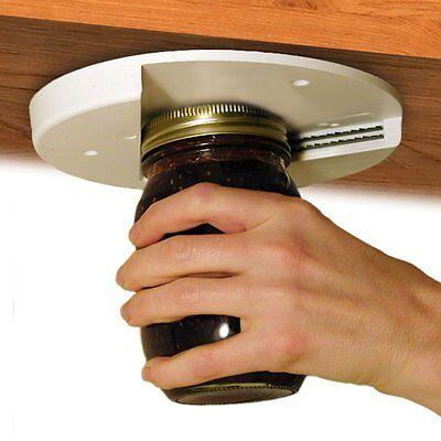 EZ OFF JAR LID OPENER GRIPPER Seniors w/ Arthritis ~ Under Cabinet Counter