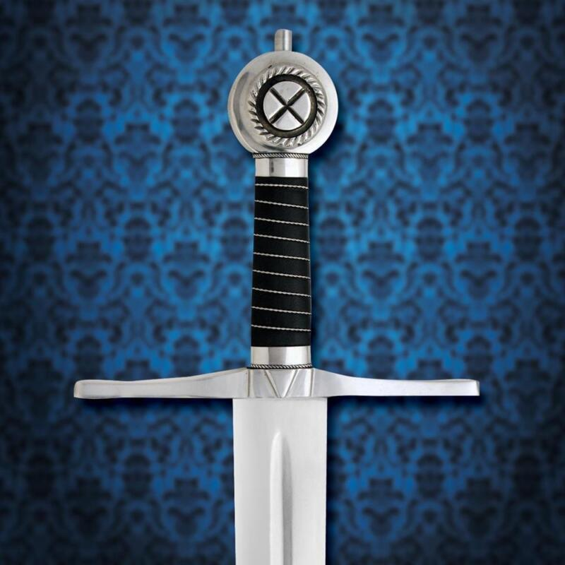 """King of Scotland Robert the Bruce 44"""" Sword with Scabbard Windlass Collectible"""
