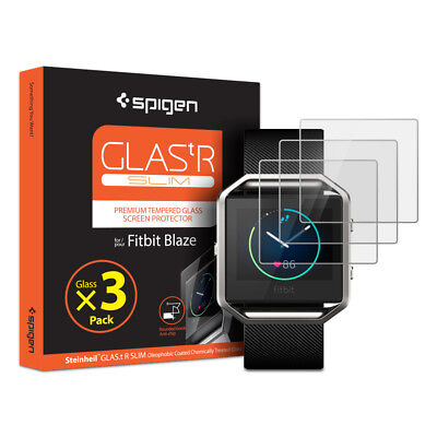 Spigen® For Fitbit Blaze [GLAS.tR.SLIM] Tempered Glass Screen Protector [3PK]