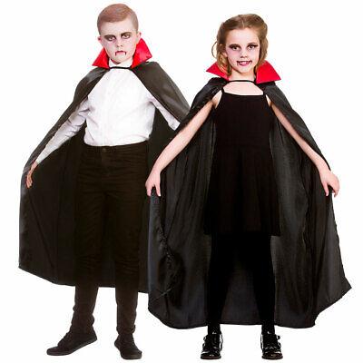 Kinder Deluxe Vampir Umhang Jungen Mädchen Halloween Umhang - Deluxe Vampir Kind Kostüme