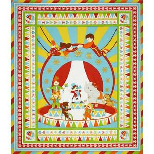 UNDER THE BIG TOP BIG TOP NEW COTTON QUILT/WALL HANGING/PANEL