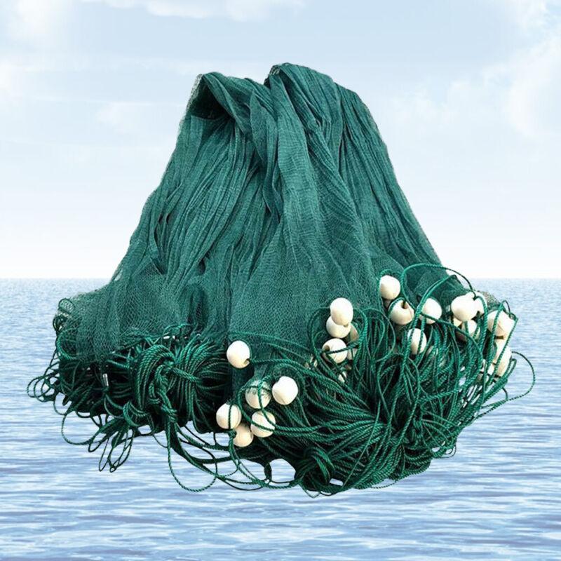 NEW 6.5x33Ft/10x65Ft Beach Drag Net Fishing Seine Bait Nylon Mesh Fish Net Cast