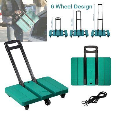 200kg Folding Shopping Trolley Heavy Duty Foldable Hand Sack Wheel Barrow Cart