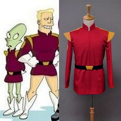 Sitcom Futurama Cosplay Uniform Captain Zapp Brannigan Halloween Suit Party Show - Futurama Costumes Halloween